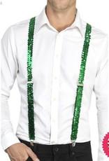 Smiffys Green Sequin Braces
