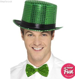 Smiffys Green Sequin Top Hat