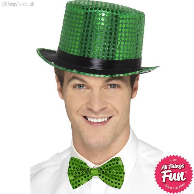 Smiffys Green Sequin Top Hat