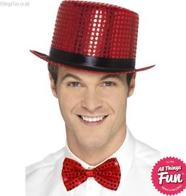 Smiffys Red Sequin Top Hat