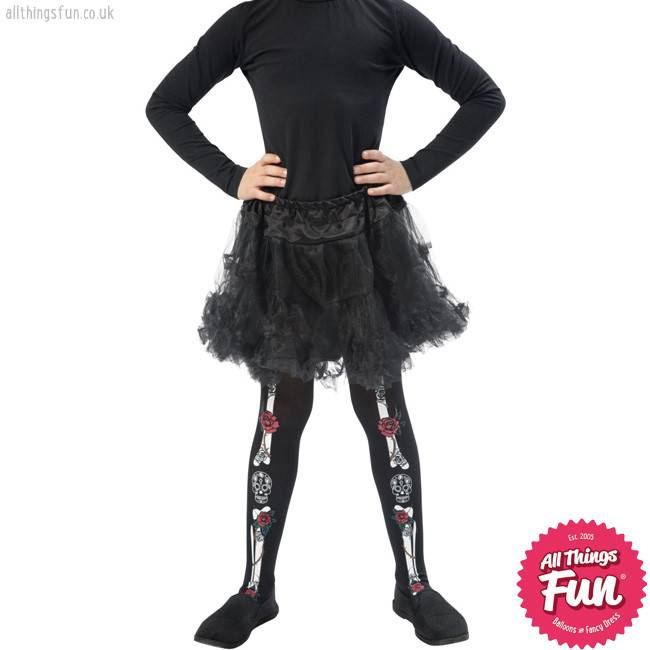 Smiffys Childs Day of the Dead Tights