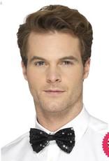 Smiffys Black Sequin Bow Tie