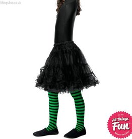 Smiffys Childs Green & Black Wicked Witch Tights