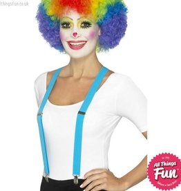 Smiffys Blue Clown Braces
