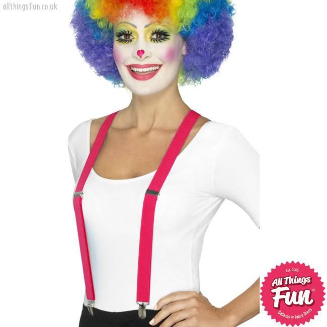 Smiffys *DISC* Pink Clown Braces