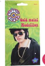 Smiffys Gold Metal Medallion On Chain