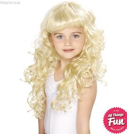 Smiffys Blonde Girl's Princess Wig Blonde