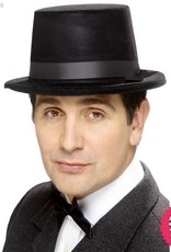Smiffys Black Flocked Topper Hat