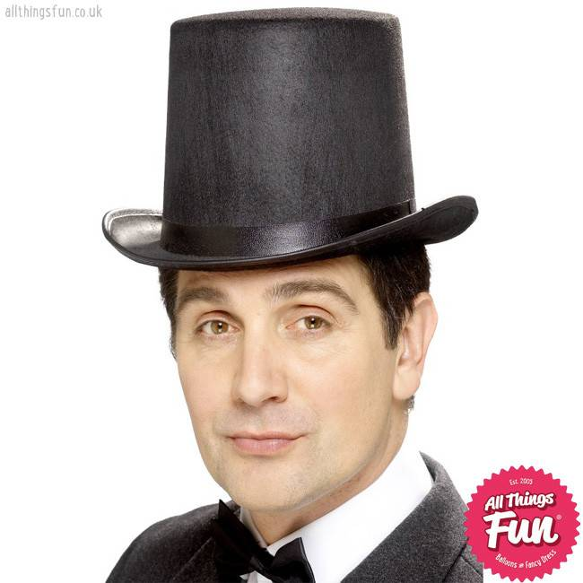 Smiffys Black Stovepipe Topper Hat