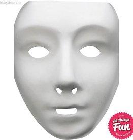 Smiffys White Robot Mask