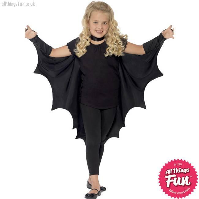Smiffys Black Vampire Bat Wings