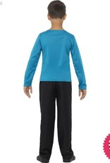 Smiffys Jumper, Blue with Yellow Stripe