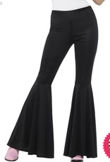 Smiffys Ladies Black Flared Trousers