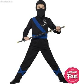 Smiffys Black & Blue Ninja Assassin Costume