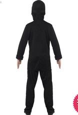 Smiffys Black & Blue Ninja Assassin Costume