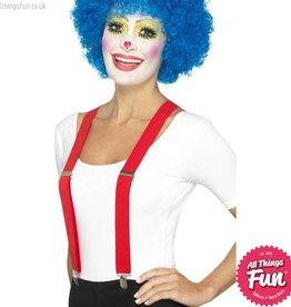 Smiffys Red Clown Braces