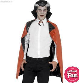 Smiffys *SP* Black & Red PVC Reversible Vampire Cape