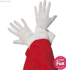 Smiffys White Santa Gloves