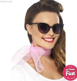 Smiffys 50's Pink Chiffon Neck Scarf