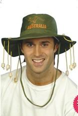 Smiffys Green Australian Hat with Corks