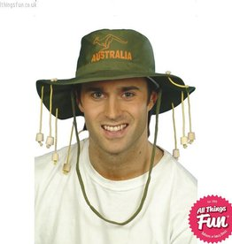Smiffys Green Australian Hat with Corks