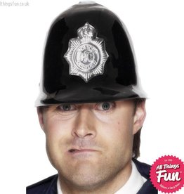 Smiffys Police Black Helmet Plastic