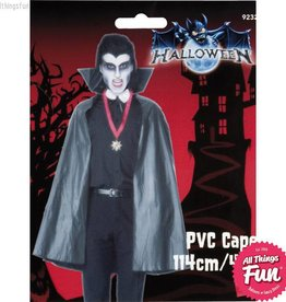 Smiffys *SP* Black PVC Vampire Cape with Stand Up Collar