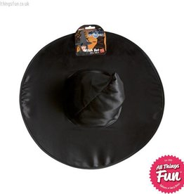 Smiffys Black Shiny Witch Hat