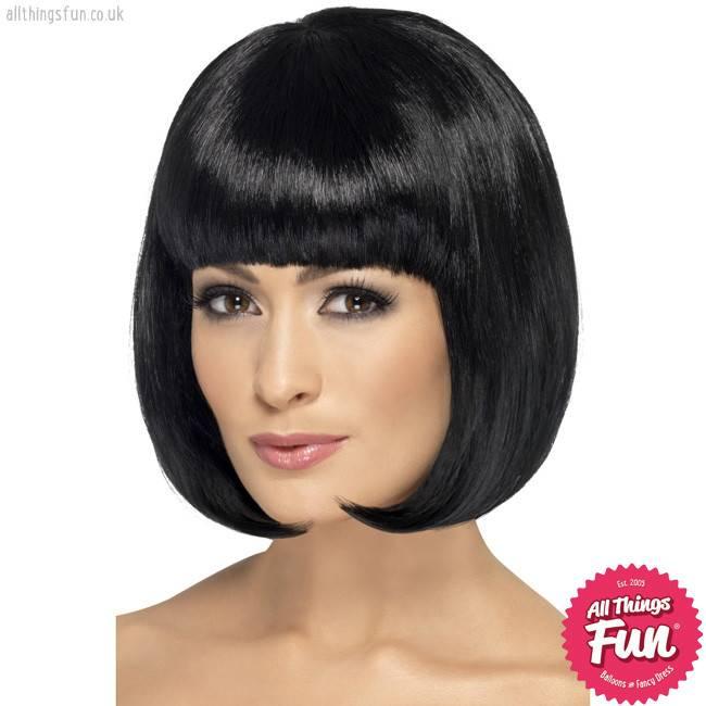 Smiffys Black Partyrama Wig