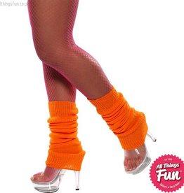 Smiffys Neon Orange Legwarmers