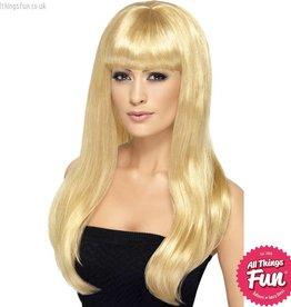 Smiffys Blonde Babelicious Wig