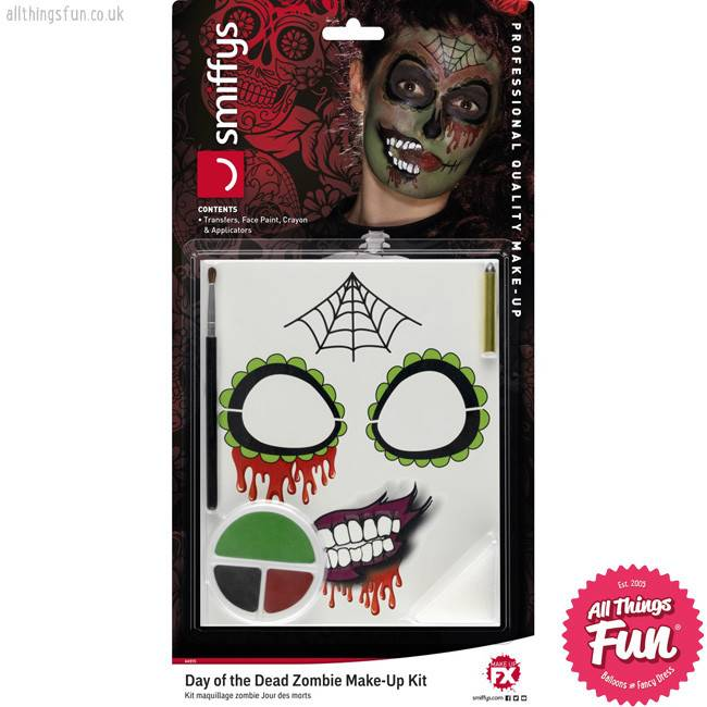 Smiffys *SP* Day of the Dead Zombie Make-Up Kit