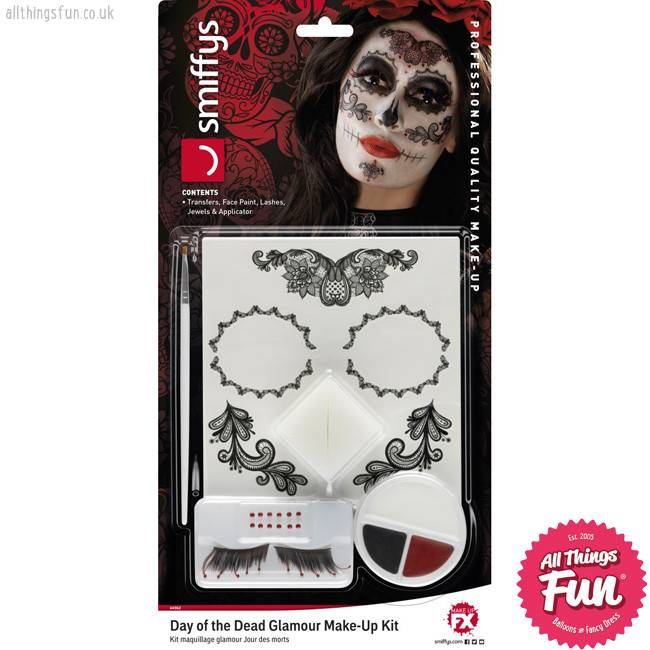 Smiffys Day of the Dead Glamour Make-Up Kit