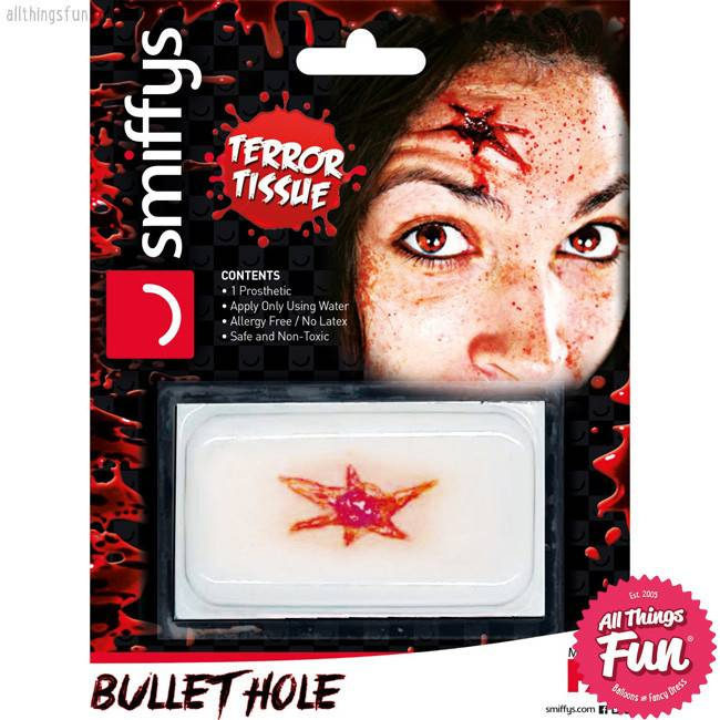Smiffys Bullet Hole Horror Wound Transfer