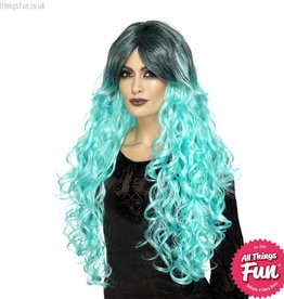 Smiffys Teal Green Gothic Glamour Wig
