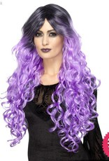 Smiffys Lilac Purple Gothic Glamour Wig