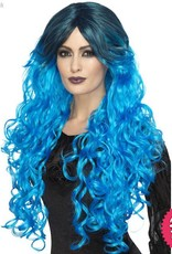 Smiffys Electric Blue Gothic Glamour Wig