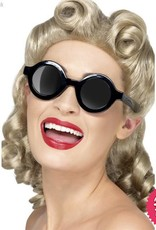 Smiffys *DISC* 1940's Sunglasses Black
