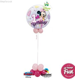 All Things Fun Minnie Mouse Birthday Bubble Design