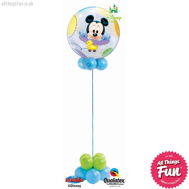 All Things Fun Baby Mickey Bubble Design