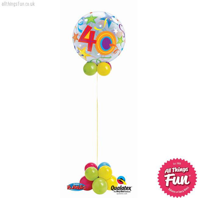 All Things Fun Birthday Stars Bubble Design (Ages 18 to 60)