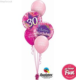 All Things Fun Birthday Shining Star Pink Classic (Ages 16th to 60th)