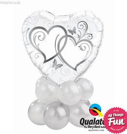 All Things Fun Entwined Hearts Silver Mini