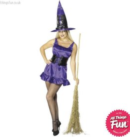 Smiffys *DISC* Purple Sexy Witch Large