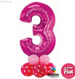 Number Super (Ages 1 to 9) Pink