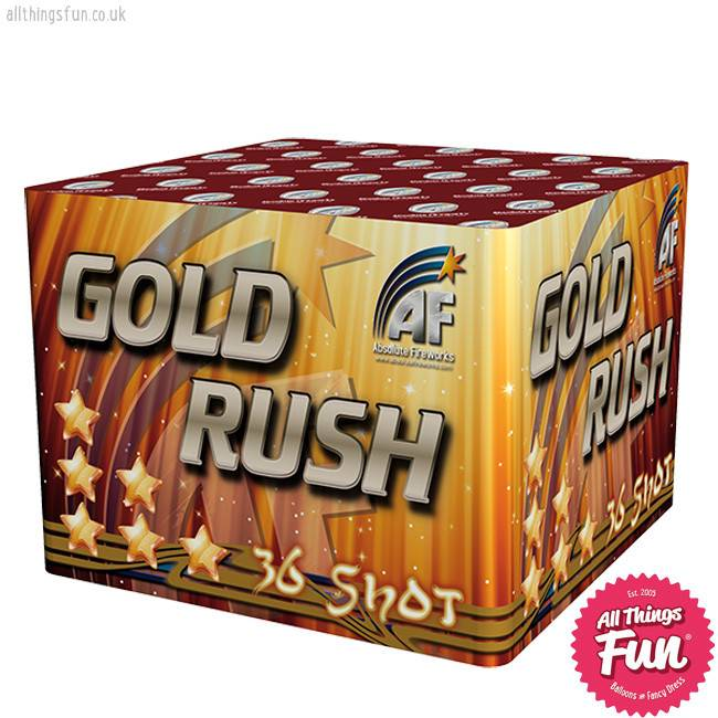 Absolute Fireworks Gold Rush - 36 Shot single