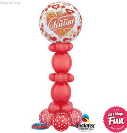 Happy Valentines Day Bubble Pedestal