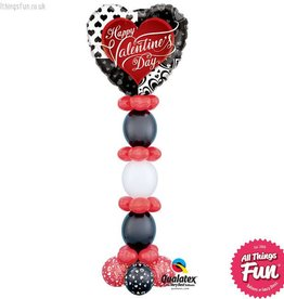 All Things Fun Valentine's Black Hearts Giant Tower