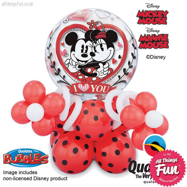 All Things Fun Mickey & Minnie I Love You Bubble Super Plus