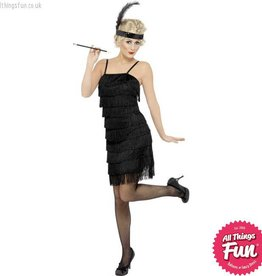 Smiffys Fringe Flapper Costume